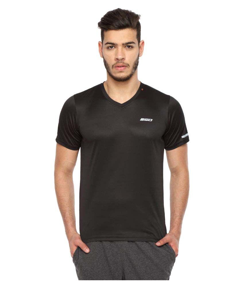 2go Black V-Neck T-Shirt