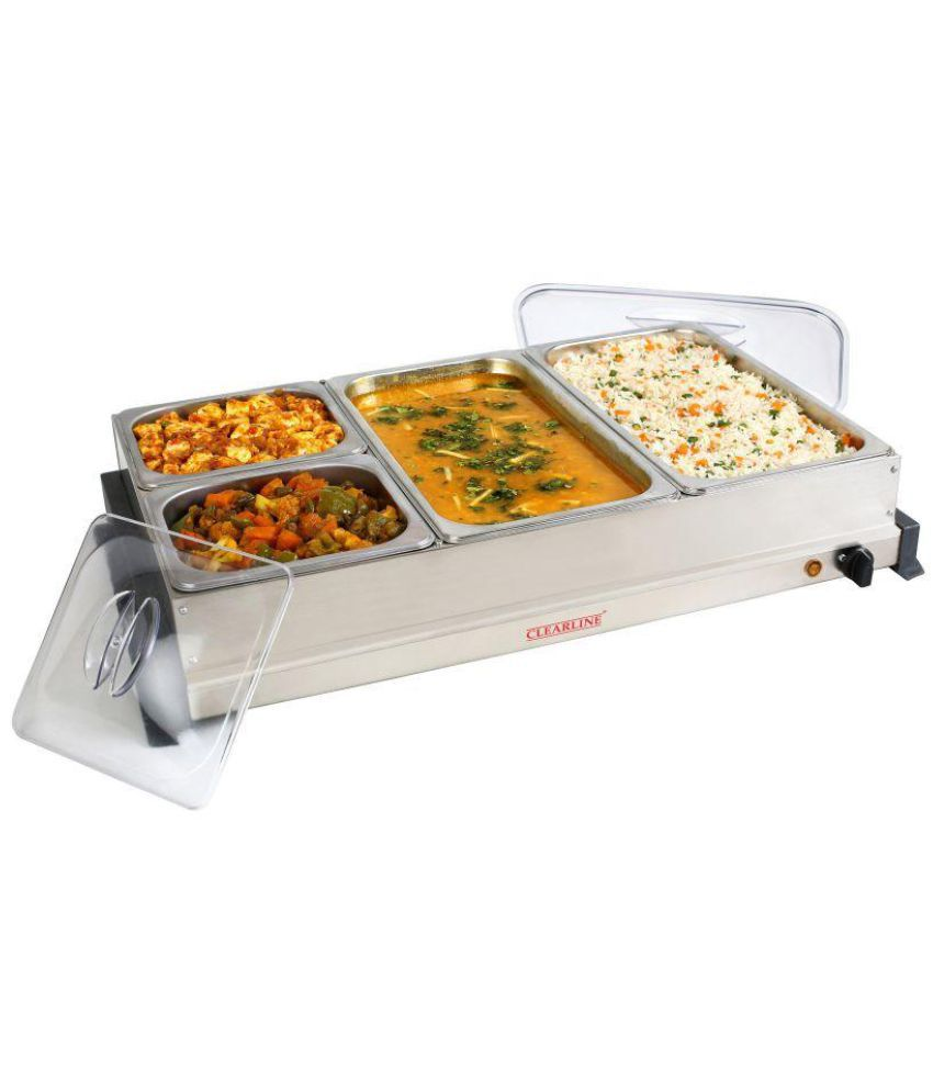 clearline 4 pan food warmer and buffet server buy online at best rh snapdeal com