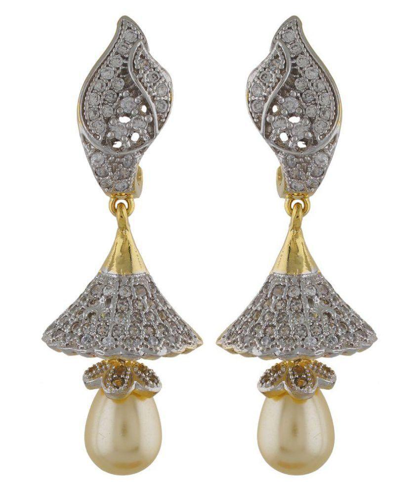 Sapphire Art White Earrings