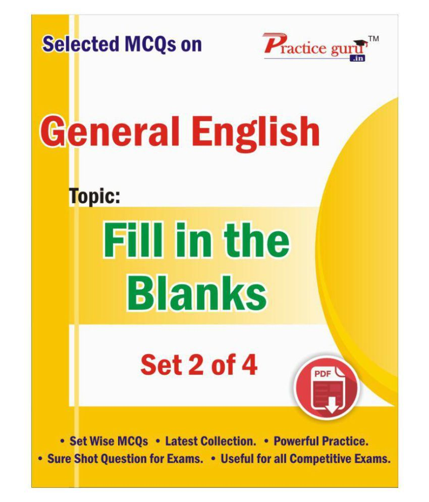 Selected MCQs on English - Fill in the Blanks Set 2 of 4 Downloadable  Content