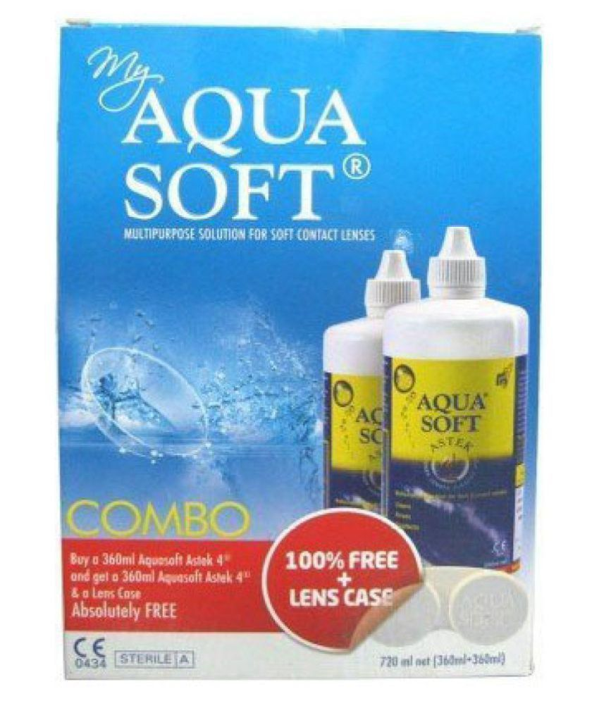 Aquasoft Multi-Purpose Contact Lens Solution (720ml, Combo Pack) (Selling Price = Mrp + Delivery Charges)