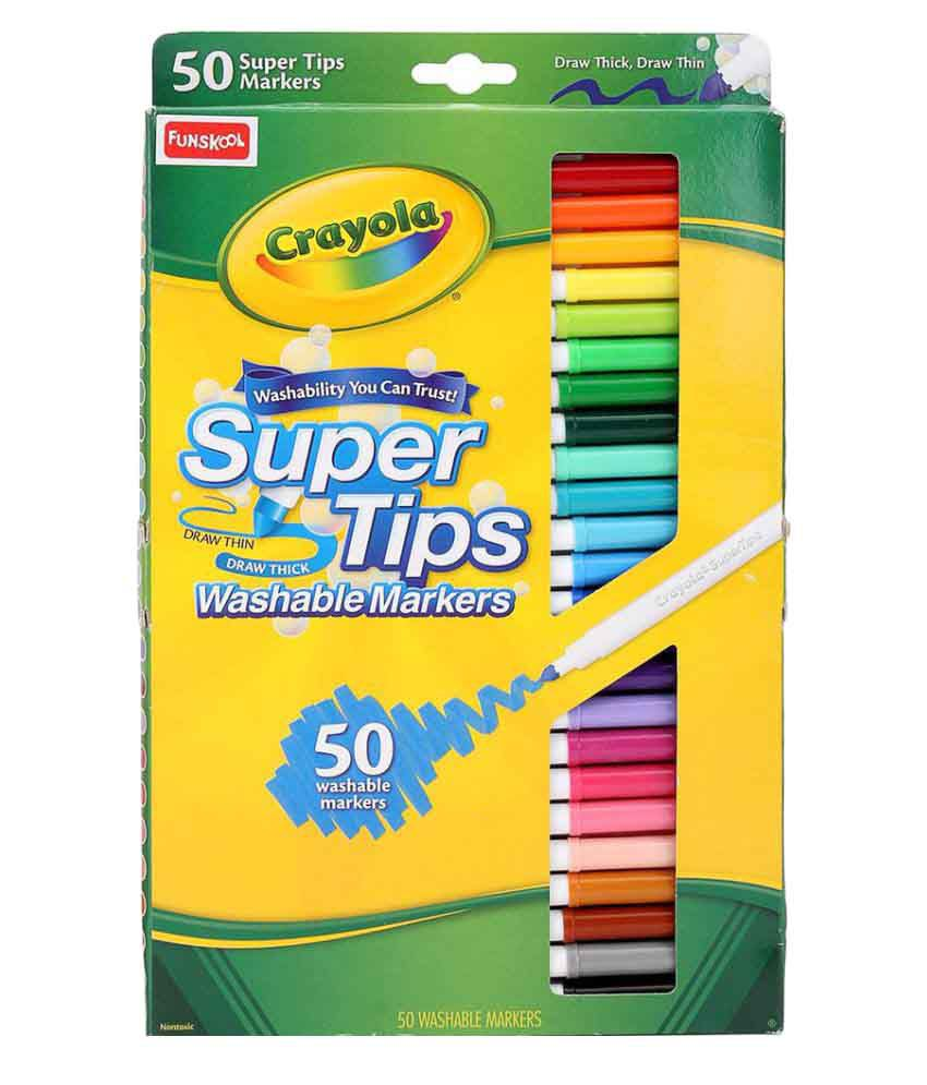 funskool multicolor crayola super tips washable markers pack of 50