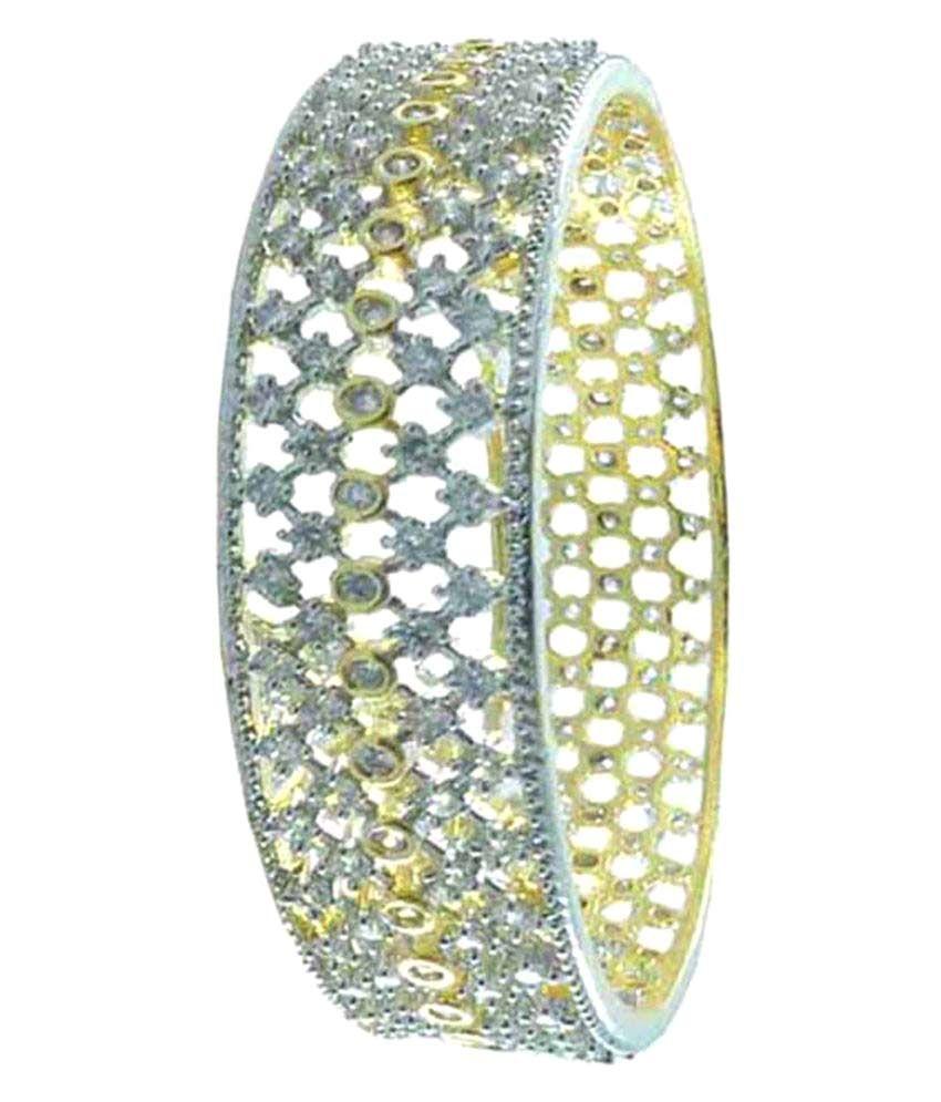 Rejewel American Diamond Two Toned Kada For Women Size 2.10