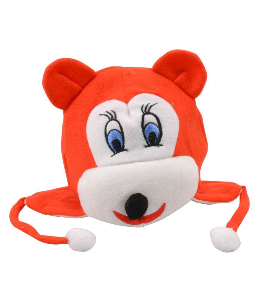 Tiekart Red Woolen Kids Caps