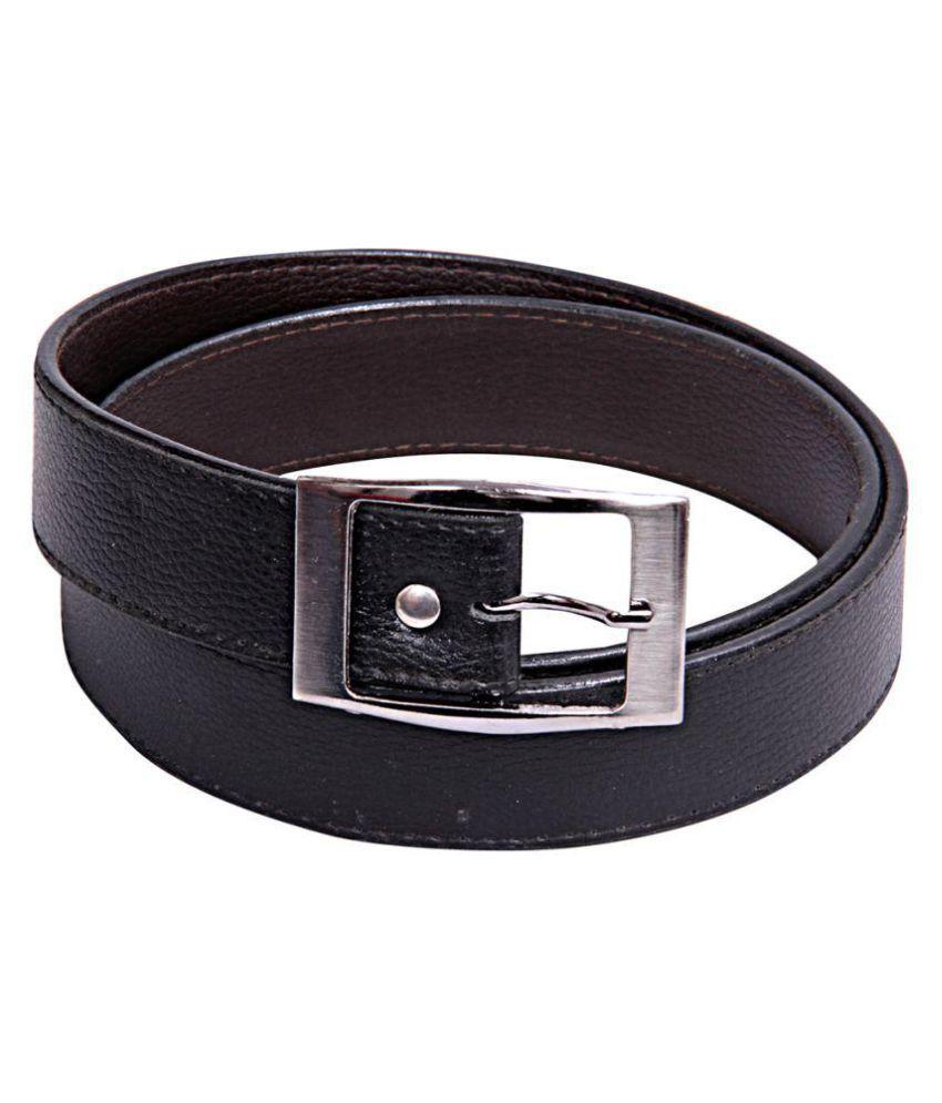 Apna Shopping Centre Black Faux Leather Formal Belts