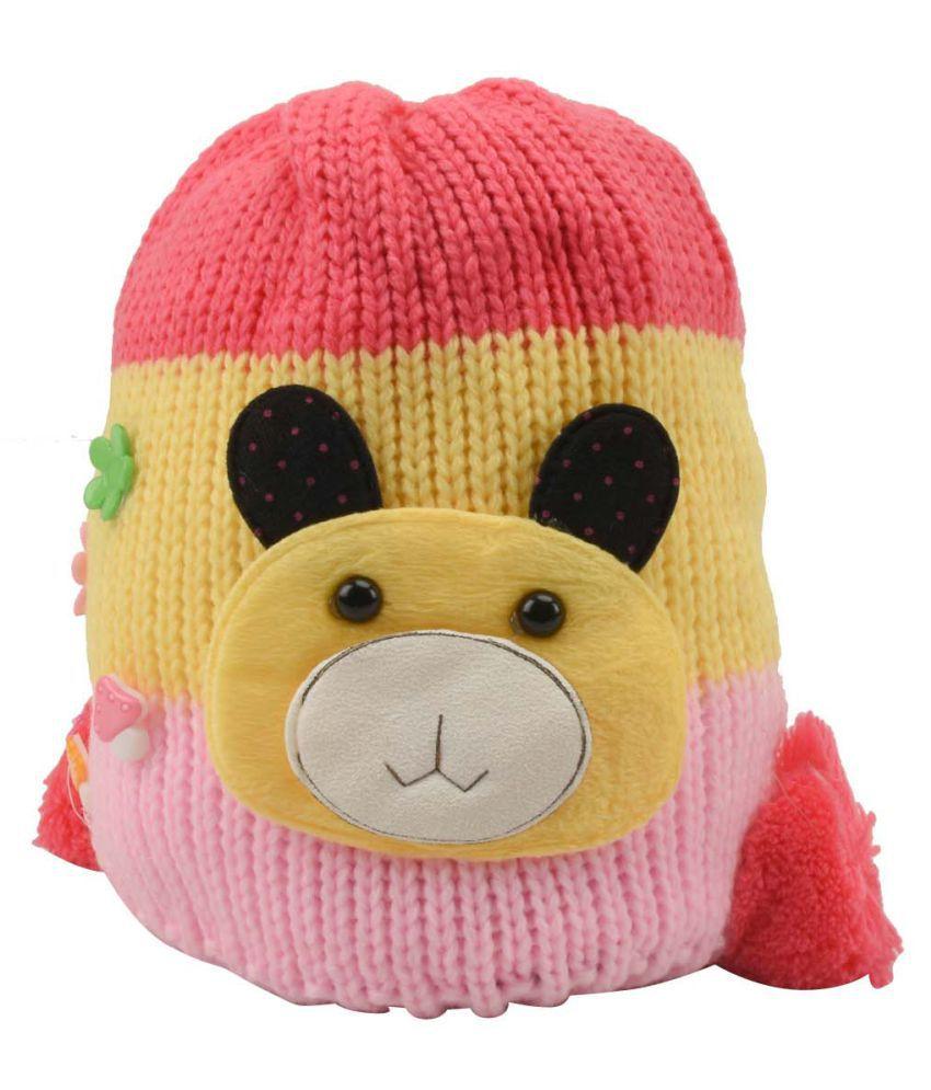 Tiekart Multcolour Woolen Kids Cap