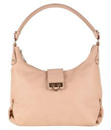 Lino Perros BEIGE Faux Leather Shoulder Bag