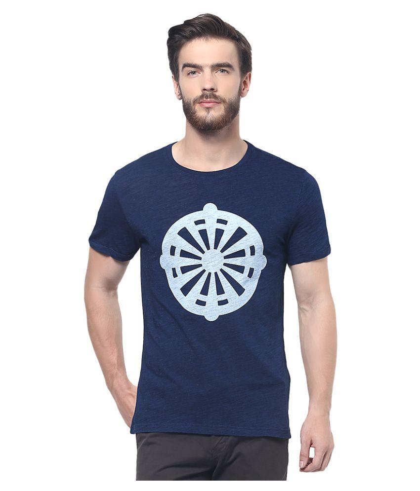 Celio Blue Round T-Shirt