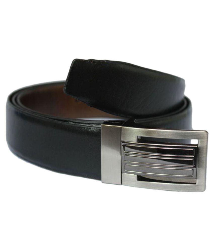 Rags Style Black Leather Formal Belts