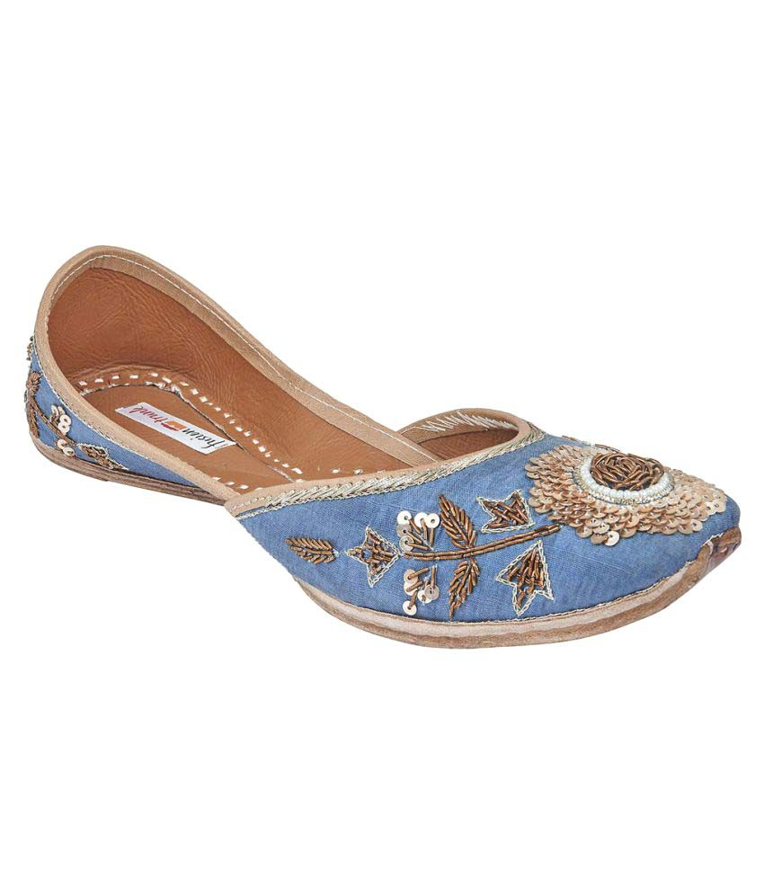 Fusion Trunk Blue Flat Ethnic Footwear