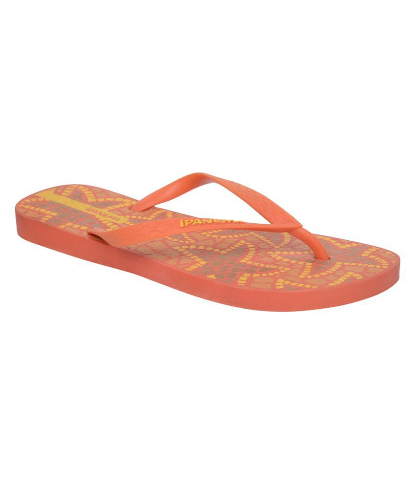 Ipanema Orange Slippers