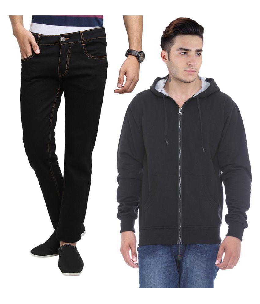 Van Galis Black Regular Fit Solid