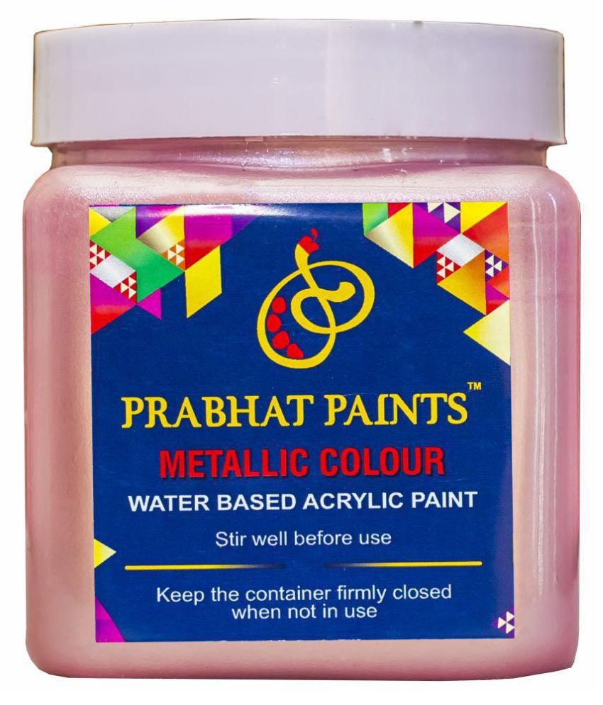 Prabhat Paints Acrylic Metallic / Pearl Colours (500 gm, Pink) (Water based paint)