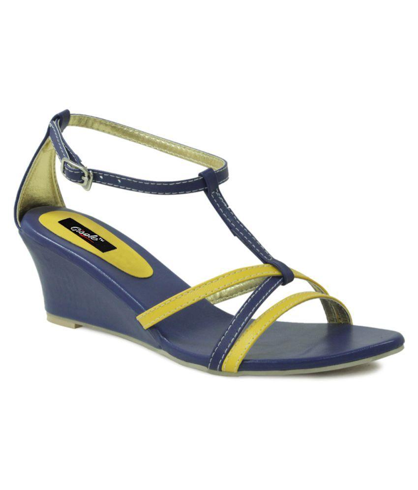 Gisole Blue Wedges Heels