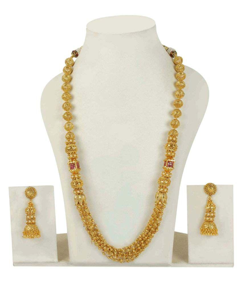 Much More Golden Raani Haar Necklace Set - Buy Much More Golden ...