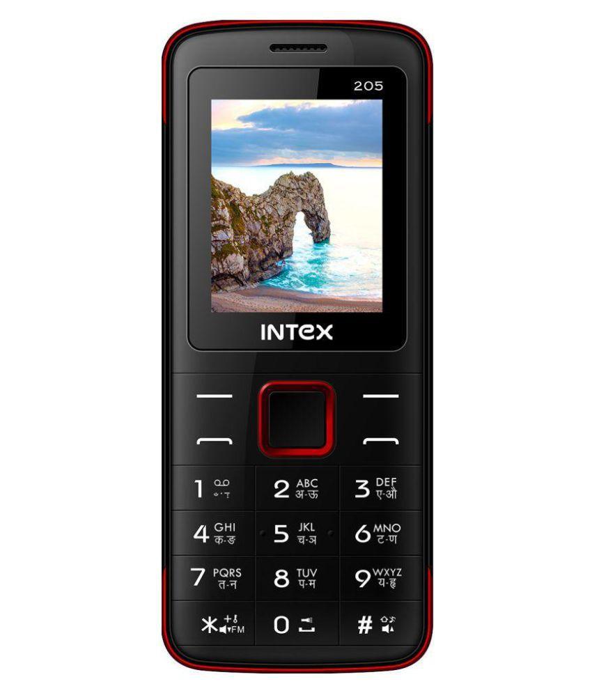 Intex Eco 205 WFM 4GB and Below Black Blue