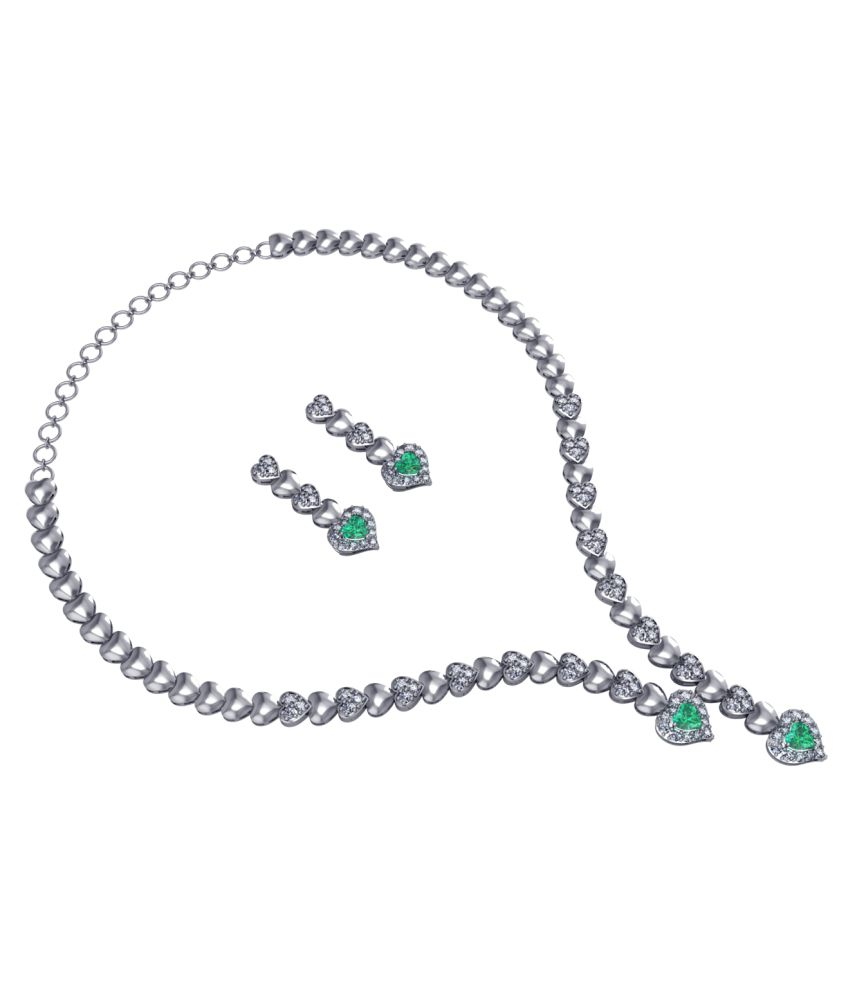 Shruti 92.5 Silver Necklace Set