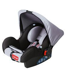 Luv Lap Infant Baby Car Seat Cum Carry Cot And Rocker With Canopy - Multicolour