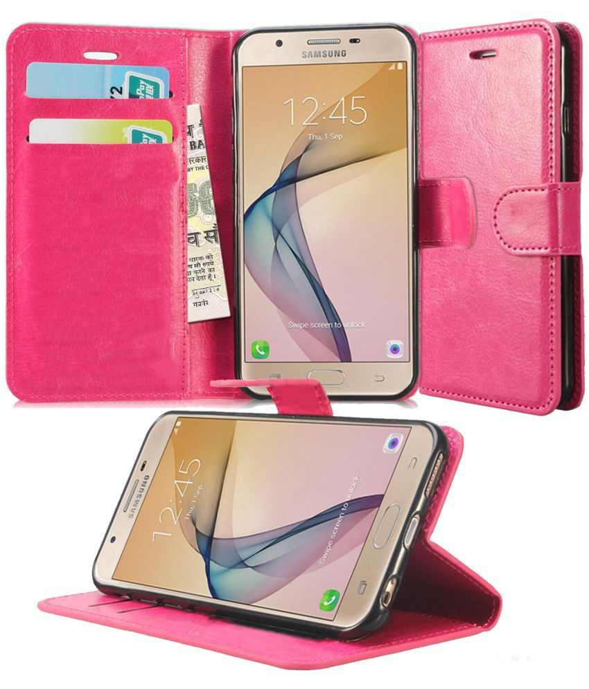abb48ad3c8a Samsung Galaxy J7 Prime Flip Cover by N+ INDIA - PINK - Flip Covers Online  at Low Prices