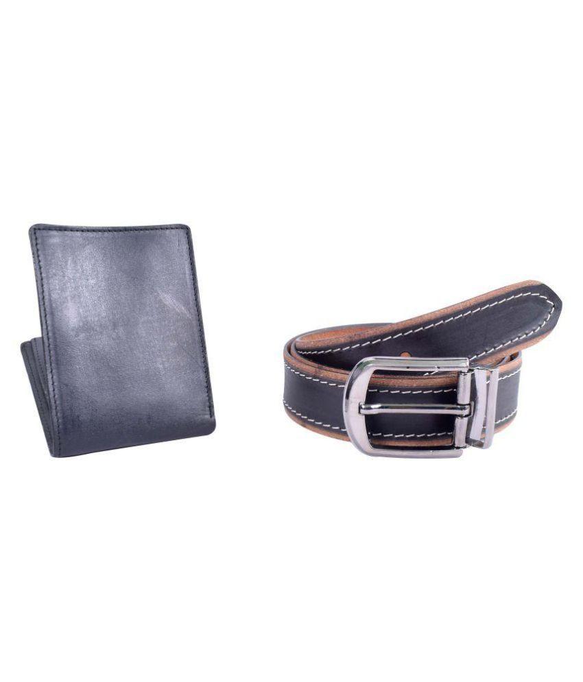 Kern Black Leather Casual Belts