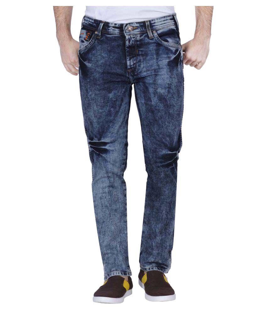 Raa Jeans Blue Slim Solid
