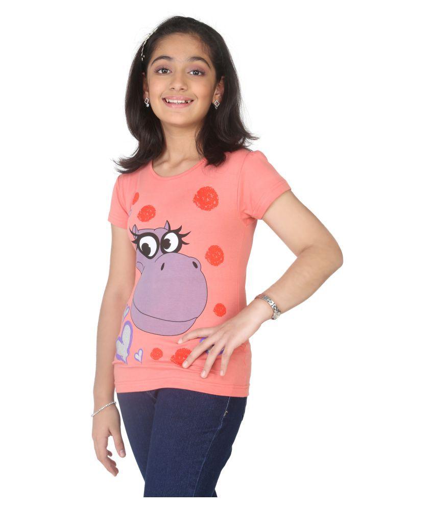 8240e594a3 Imagica Orange Printed Girls T-shirt - Buy Imagica Orange Printed ...