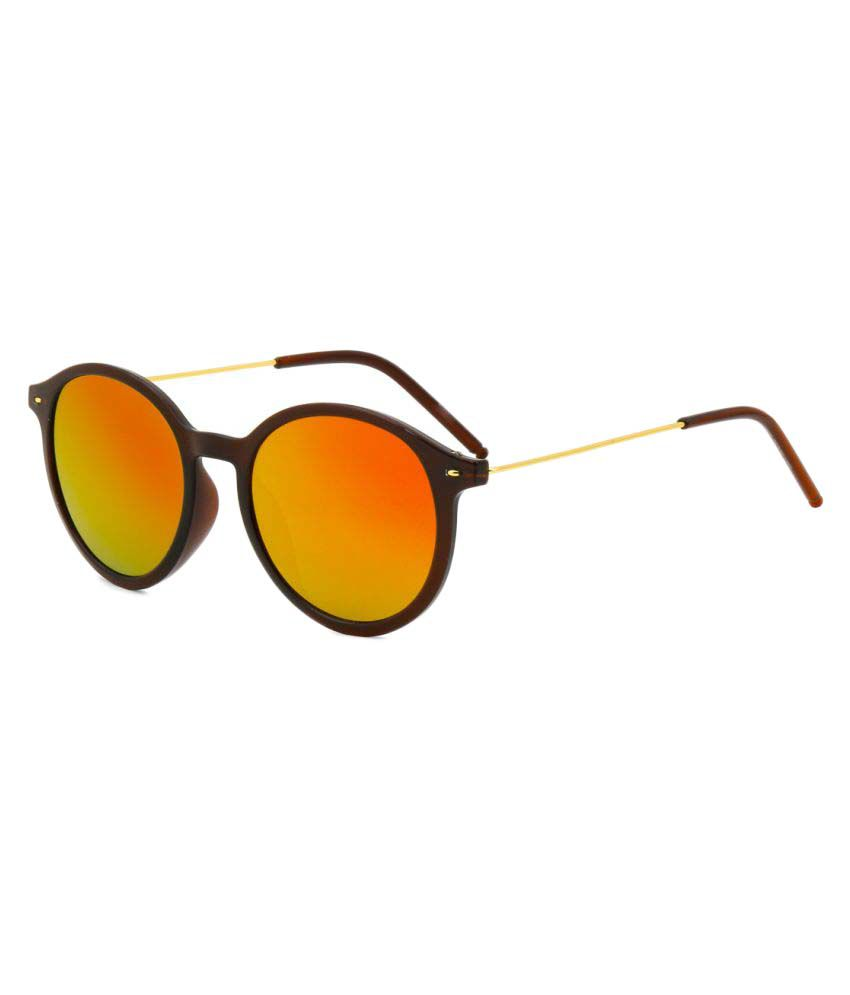 Royal Son Red Round Sunglasses ( WHAT3710 )