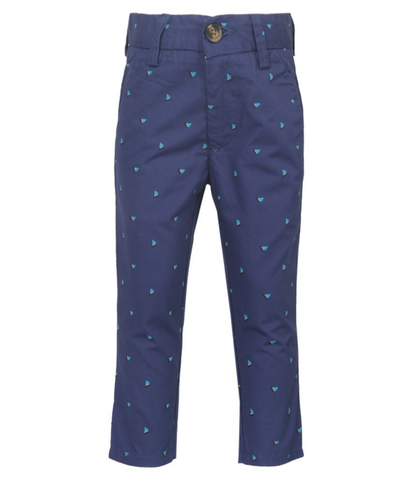 d6cfe5bca United Colors of Benetton Blue Printed Trousers available at SnapDeal for  Rs.715