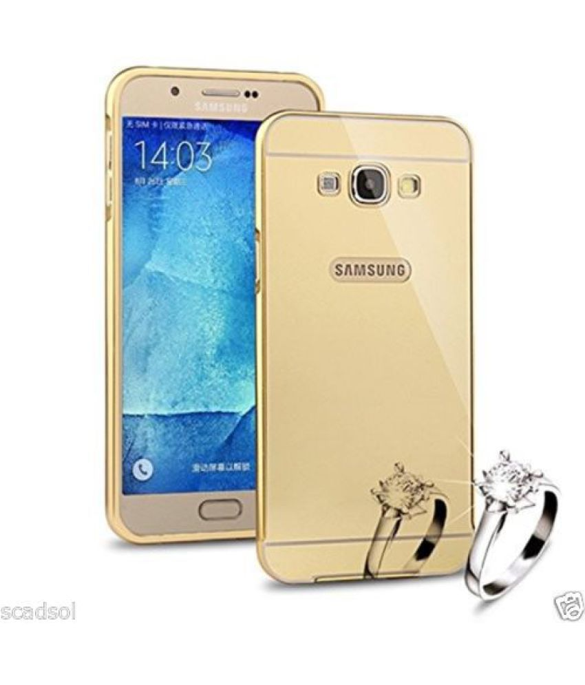 super popular 7f03d d88b7 Samsung Galaxy On5 Pro Bumper Cover by SCHOFIC - Golden - Plain Back ...