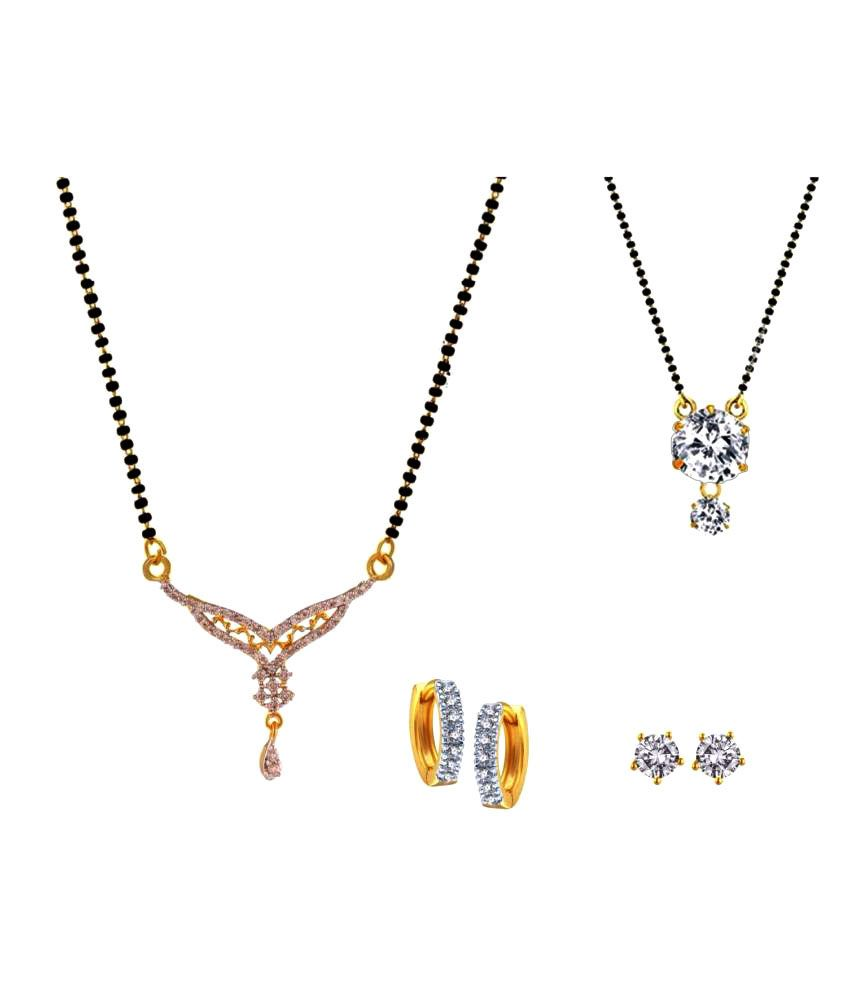 Archi Collection Multicolour Alloy Mangalsutra Combo