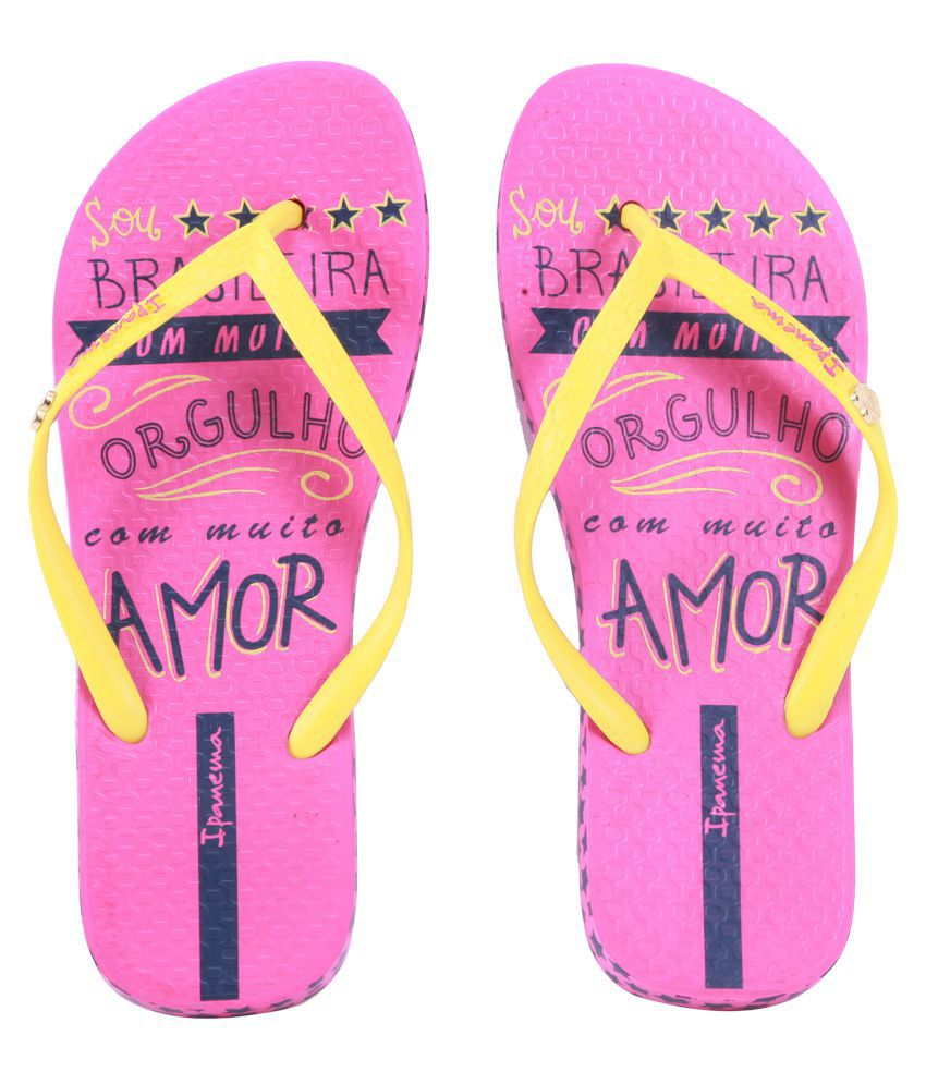 Ipanema Yellow Slippers