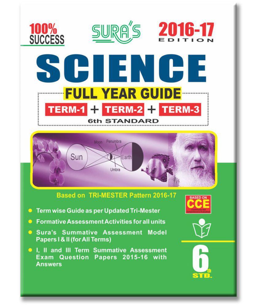 6th Standard Guide Science Full Year English Medium Tamilnadu State Board  Samcheer Syllabus
