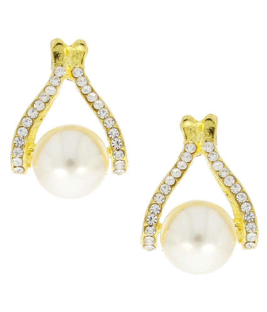 Anuradha Art Golden Colour Alloy Drop Earring
