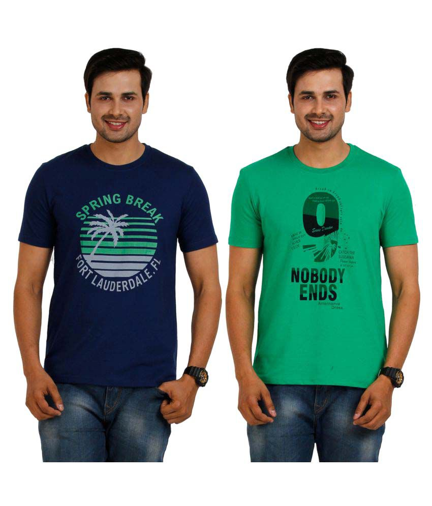 TT Multi Round T-Shirt Pack of 2