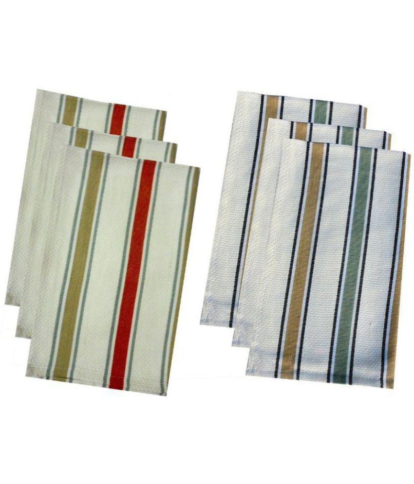 Tidy Set of 6 45x66 Cotton Kitchen Towel