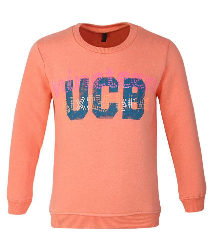 United Colors of Benetton Peach Printed Sweatshirt