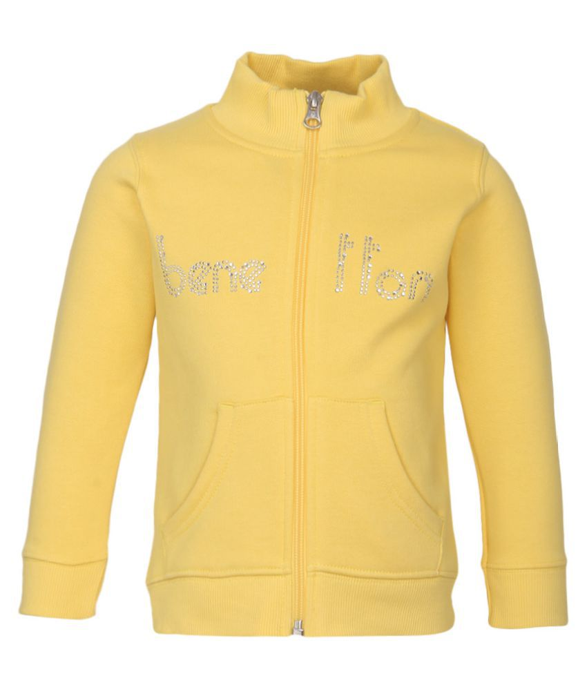 United Colors of Benetton Yellow Zippered Sweatshirt