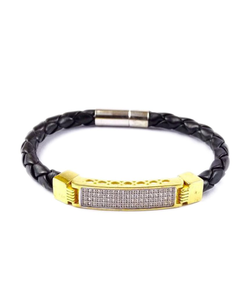 7 Star Jewel Black Bracelet