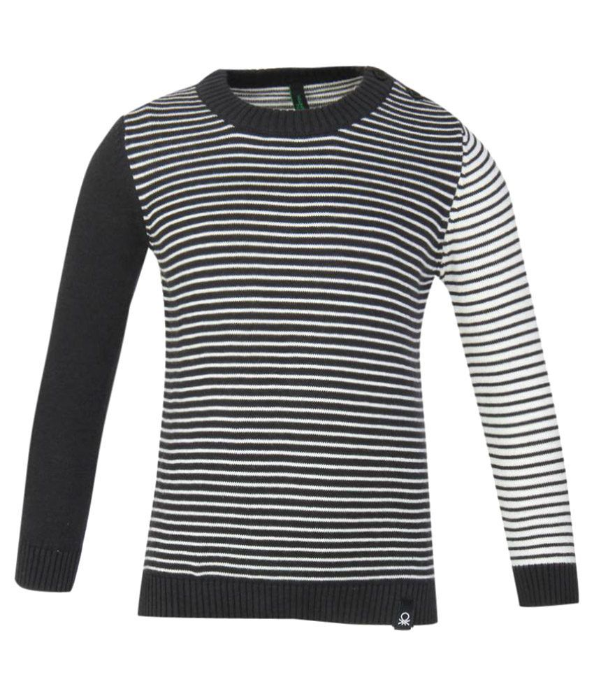 a217b6fa4 United Colors of Benetton Black Striped Pullover - Buy United Colors ...