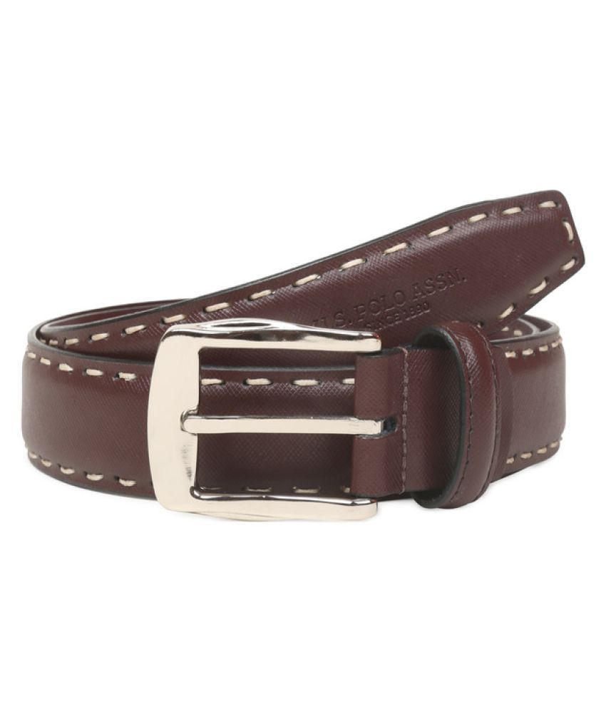 U.S. Polo Assn. Tan Leather Casual Belts