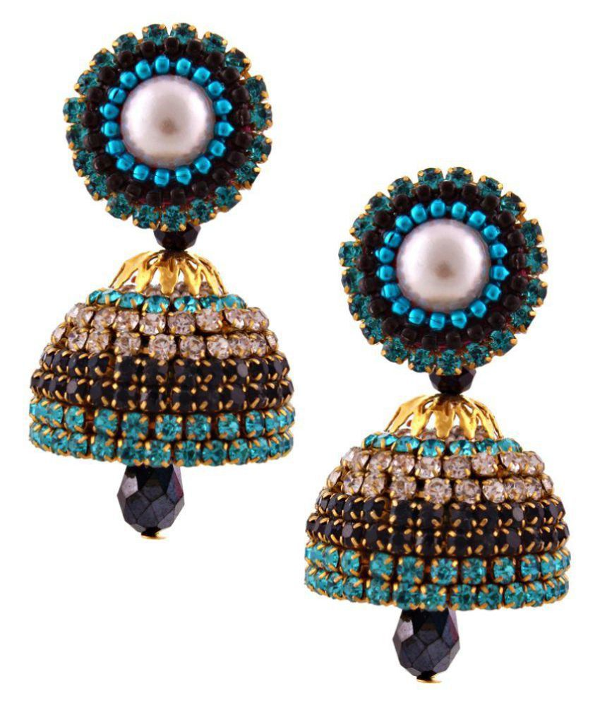 Creative_Studio Hancrafted Multicolor Diamond Jhumki