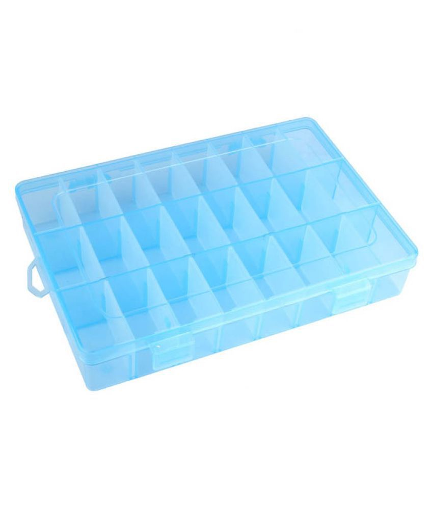 DIY Crafts Practical Adjustable Plastic Compart Tool Storage Display Organizer.