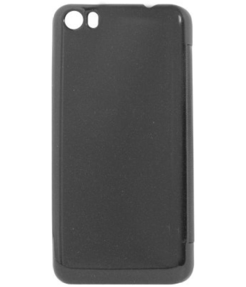 buy online 4a25c c332f Micromax Canvas Fire 4 A107 Flip Cover by Micromax - Black