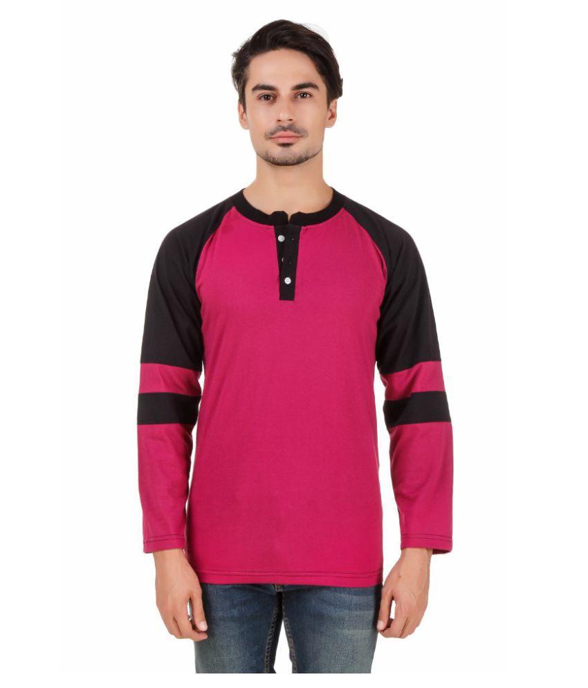 Aurelio Marco Pink Henley T-Shirt