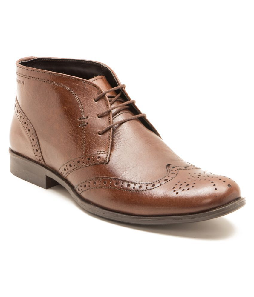 Red Tape Brown Formal Boot