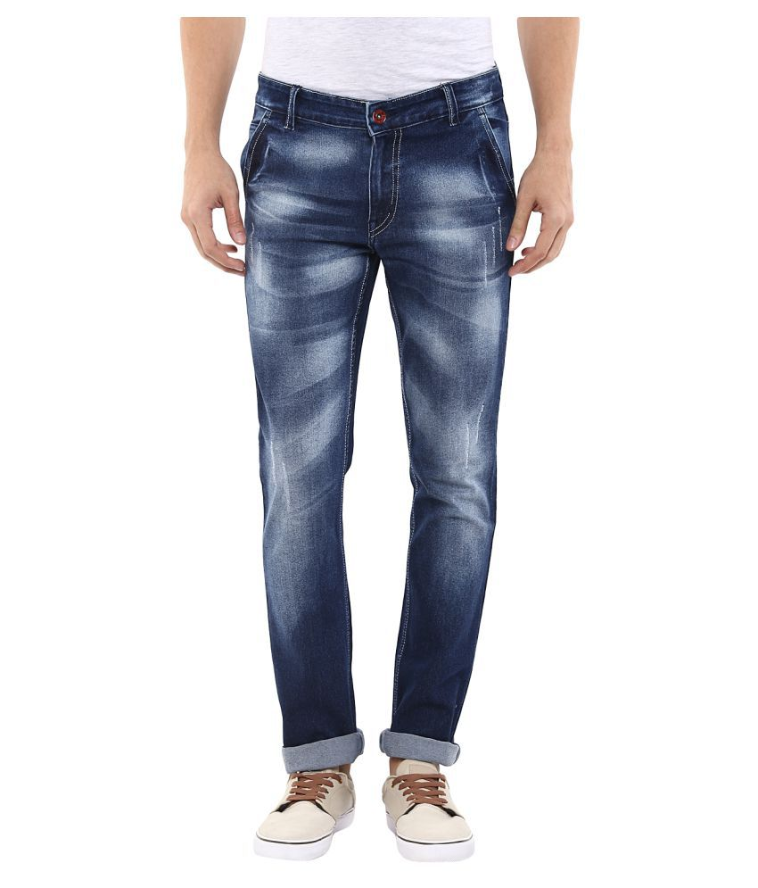 11cent Blue Slim Washed