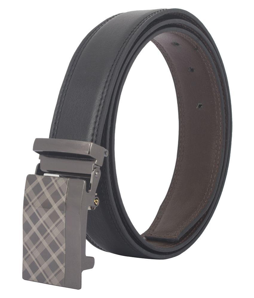 Chisel Black Faux Leather Formal Belts