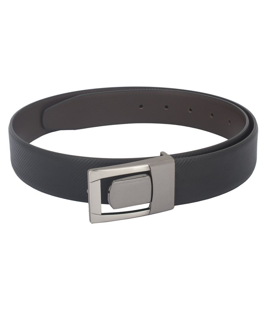 Chisel Black Leather Formal Belts