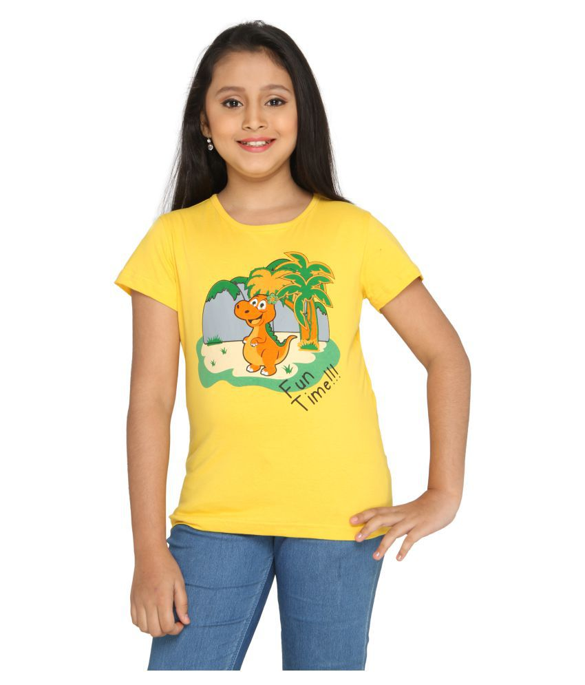 c7a91cbdab Imagica Yellow Half Sleeves T-Shirt - Buy Imagica Yellow Half Sleeves T-Shirt  Online at Low Price - Snapdeal