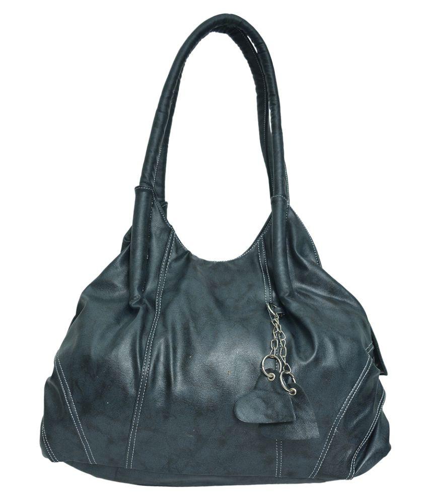 JH Hand bag Black P.U. Shoulder Bag